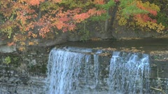 water fall - Autum -002 - stock footage