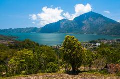 Lake batur, bali, indonesia Stock Photos