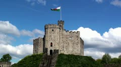 Cardiff Castle Stock Footage