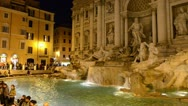 RomeTreviFountain Stock Footage