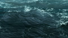 Camera Go Through On the Realistic CG Ocean In Storm - stock footage