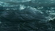 Stock Video Footage of Camera Go Through On the Realistic CG Ocean In Storm