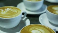 Variety of Art latte Stock Footage