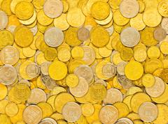 coins of ukraine, background - stock photo