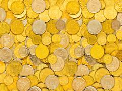 Stock Photo of coins of ukraine, background