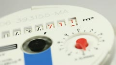 Water meter, close up Stock Footage