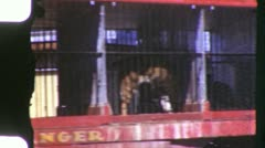 CIRCUS LION TIGER Comes to Town Parade 1950s Vintage 8mm Film Home Movie 6080 Stock Footage