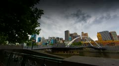 Time lapse Southbank Melbourne 25fps.mp4 Stock Footage