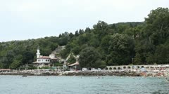 The Romanian Queen Castle in Balchik, Bulgaria, Black Sea, Tourist Attraction Stock Footage