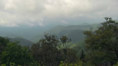 Storm Clouds over the Blue Ridge Mountains Stock Footage