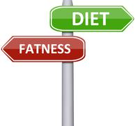 diet and fatness - stock photo