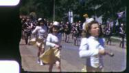 MAJORETTES Parade Girls 1940s Vintage Old Film Home Movie Footage 6084 Stock Footage