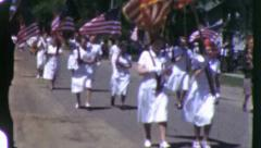 American Nurses USO Female Women Veterans Parade Vintage Film Home Movie 6085 Stock Footage