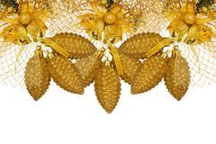 Stock Photo of golden christmas decoration