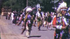 American Indians Headdress Native Costume 1960s Vintage Film Home Movie 6086 Stock Footage