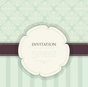 invitation vintage background - stock illustration
