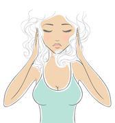 Headache.jpg Stock Illustration