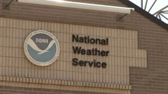 National Weather Service Office - stock footage