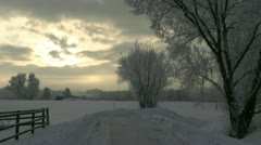 Mystical Winter Landscape - Northern Germany Stock Footage