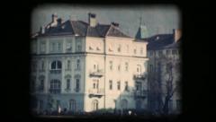 Vintage 8mm. Buildings in Bolzano - stock footage