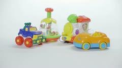 Plastic toys Stock Footage