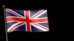 Flag GreatBritain 25fps Stock Footage