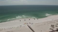 Barrier Island Sandy Beach Stock Footage