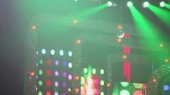 Part of scenery on stage with flashing illumination - stock footage
