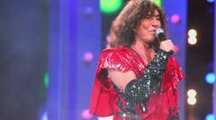 Valery Leontiev sing on stage during concert of Legend RetroFM Stock Footage
