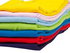 Stack of t shirts Stock Photos