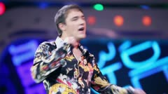 Y.Shatunov sings on concert of Legend RetroFM Stock Footage