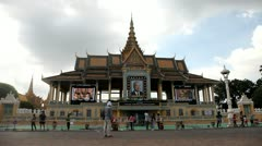 Phnom Penh Royal Palace in Cambodia Stock Footage