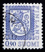 finland stamp - stock photo