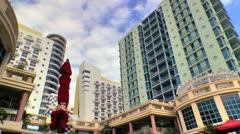 Colorful Art Deco architecture in Miami Beach Stock Footage