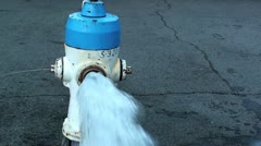 Fire Hydrant 1500-2000gpms Stock Footage