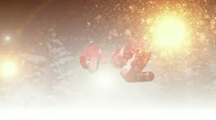 Happy New Year 2013 different animation ( Series 3 - Version from 1 to 10 ) Stock Footage