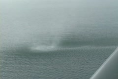 Waterspout Spray Ring Stock Footage
