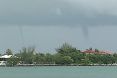 Waterspout line Stock Footage