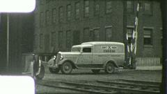CAR ANTIQUE AUTO Chevrolet Delivery Truck 1930s (Vintage Film Home Movie) 6105 Stock Footage