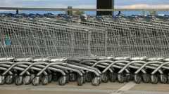 Shoping baskets Stock Footage