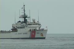 Coast Guard Drug interdiction mission - stock footage