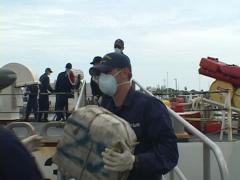 Coast Guard offloading Cocaine Stock Footage