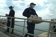 Stock Video Footage of Coast Guard offloading Cocaine