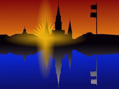 St Louis katedraali New Orleans Piirros