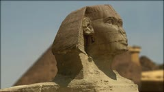 Motion Graphic Egyptian Landmarks Stock Footage
