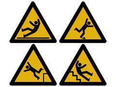 caution signs - stock illustration