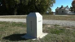 Virginia and Washington DC boundary stone Stock Footage