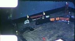 TOY TRAIN ON TRACK Family Train Set 1940s (Vintage Film 8mm Home Movie) 6128 Stock Footage