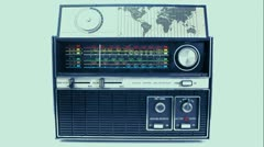 Vintage radio dial frequence Stock Footage