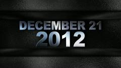 December 2012 text in wall silver Stock Footage